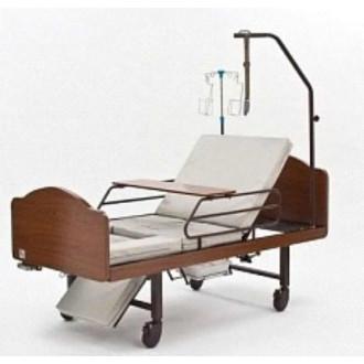 Кровать функциональная медицинская 3-х секционная механическая с санитарным оснащением DHC FF-3 в Екатеринбурге