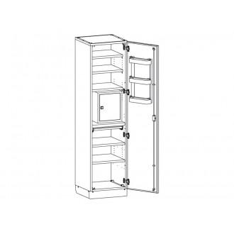 Шкаф медицинский МШ-1-02 с сейфом для медикаментов в Екатеринбурге