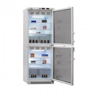 Холодильник фармацевтический двухкамерный ХФД-280(ТС) (140/140 л) с тонированными стеклянными дверями в Екатеринбурге