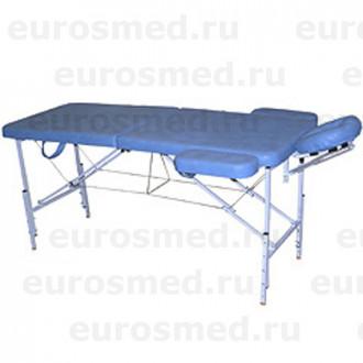 Массажный стол MedMebel №2 с валиком и подлокотниками в Екатеринбурге